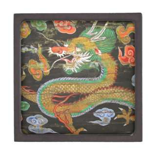 Dragon painting on the Korean ceiling of Sungnyemu Jewelry Box