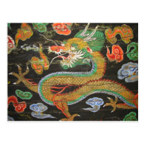 Dragon painting on the Korean ceiling of Sungnyemu Postcard