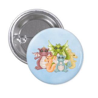 Dragon Pals Pixel Art Pinback Buttons