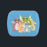 """Dragon Pals Pixel Art Jelly Belly Candy Tin<br><div class=""""desc"""">This tin features one of a kind, original artwork that you will not find anywhere else, creating personalized tins for women, for men, for teens and for children. Jelly Belly tins, snap tins, snip tins, candy tins, peek-a-box tins, and glass candy jars, these custom tins can be used by you...</div>"""