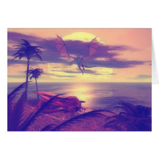 Dragon Paradise Greeting Card
