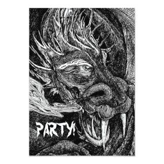 Dragon 'Party!' invitation