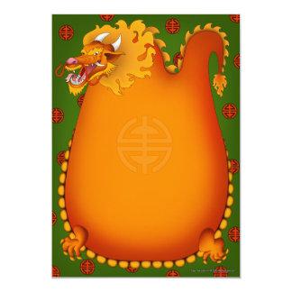 """Dragon Party Invitations 5"""" X 7"""" Invitation Card"""