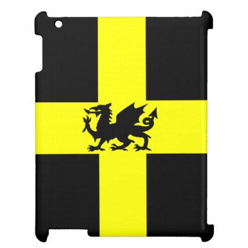 Dragón patriótico de País de Gales en la caja amar