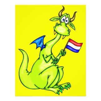 """Dragón patriótico folleto 8.5"""" x 11"""""""