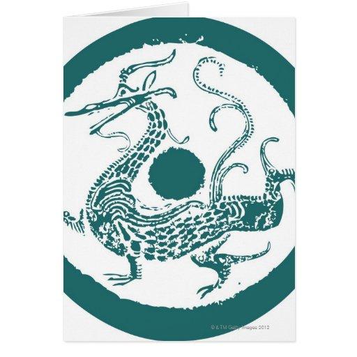 Dragon pattern 13 greeting card