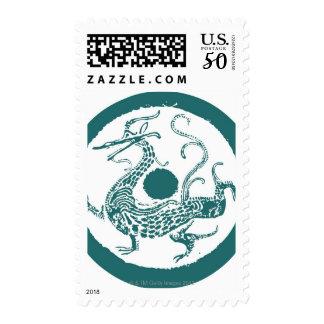 Dragon pattern 13 postage