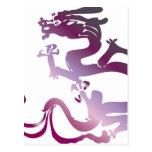 Dragon pattern 19 postcard