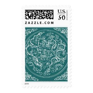 Dragon pattern, full frame postage