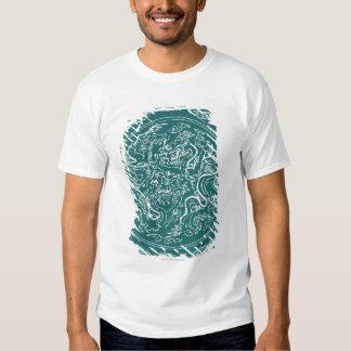 Dragon pattern, full frame shirt
