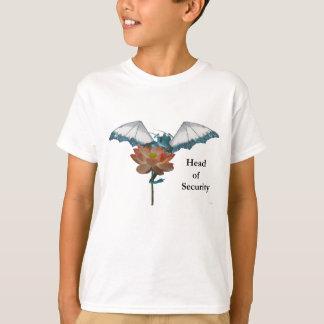 Dragon Peeks Around Flower T-Shirt