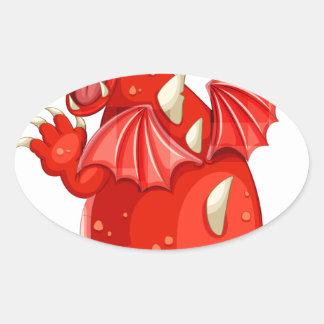 Dragón Colcomanias De Óval