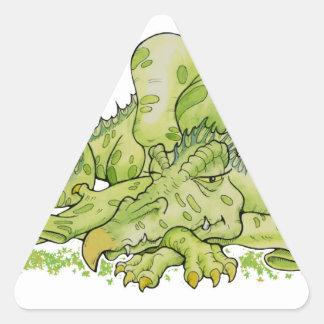 Dragón Pegatina Triangular