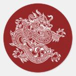 dragón pegatinas redondas