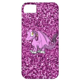 Dragón peludo de Bubblegum SD con brillo rosado iPhone 5 Funda