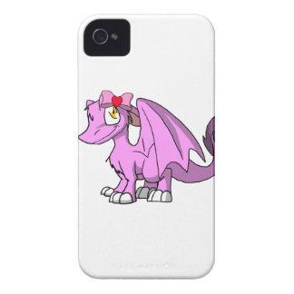 Dragón peludo de Bubblegum SD con el arco 1 del el Carcasa Para iPhone 4 De Case-Mate