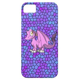 Dragón peludo de Bubblegum SD con el mosaico iPhone 5 Fundas