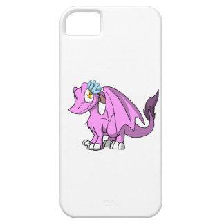 Dragón peludo de Bubblegum SD con la flor de Lotus iPhone 5 Carcasa