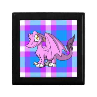 Dragón peludo de Bubblegum SD con la parte Joyero Cuadrado Pequeño