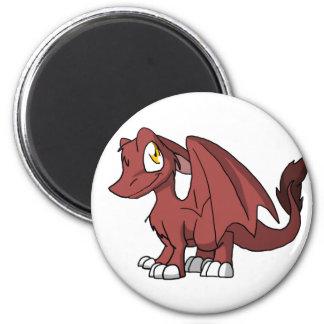 Dragón peludo de Chocoberry SD Imán Redondo 5 Cm