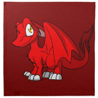Dragón peludo de Recolorable SD con cualquier Servilleta Imprimida