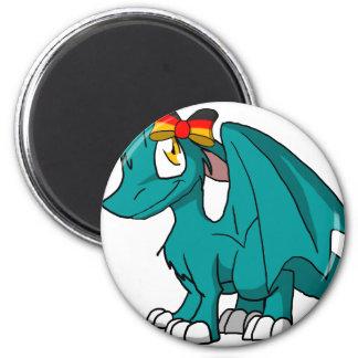 Dragón peludo de Recolourable SD con el arco Imán