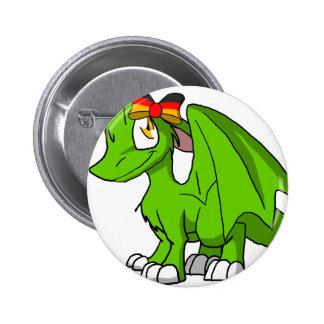 Dragón peludo de Recolourable SD con el arco Pins