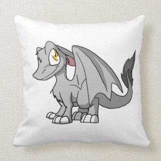 Dragón peludo del SD de la plata Almohadas