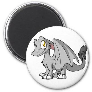 Dragón peludo del SD de la plata Iman De Frigorífico