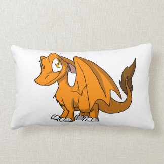 Dragón peludo del SD del naranja Almohada