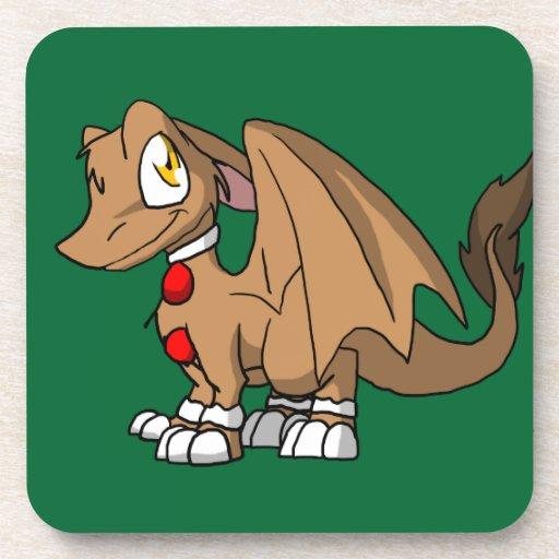 Dragón peludo del SD del pan de jengibre Posavaso