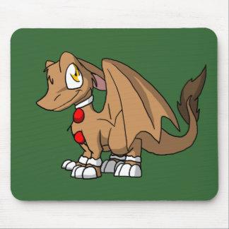 Dragón peludo del SD del pan de jengibre Alfombrilla De Ratón