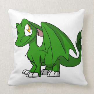Dragón peludo verde del SD del pino Cojin