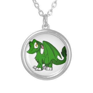 Dragón peludo verde del SD del pino Collar