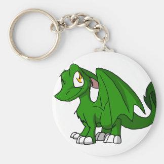 Dragón peludo verde del SD del pino Llavero