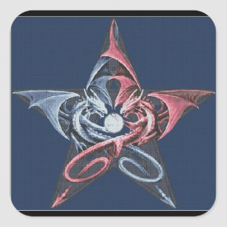 Dragon Pentacle Square Sticker