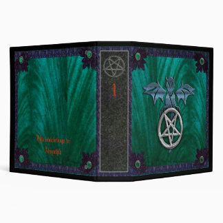 dragon pentagram vinyl binder