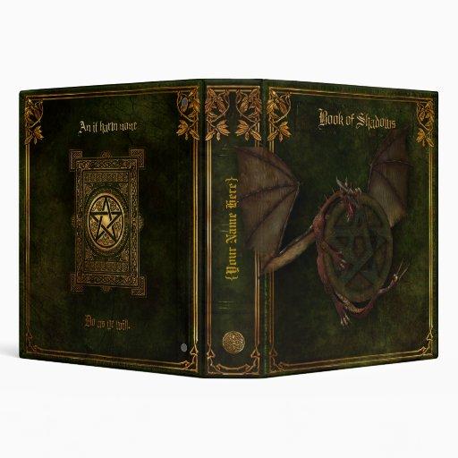 Dragon & Pentagram Book of Shadows Binder
