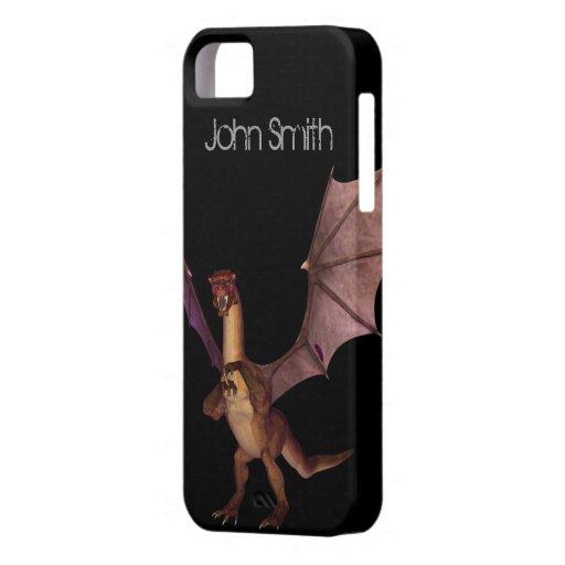 Dragón/personalizado iPhone 5 Case-Mate Fundas