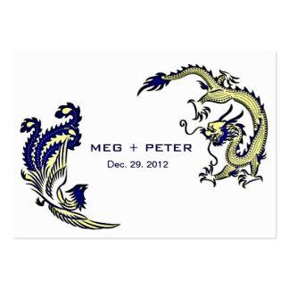 Dragón-Phoenix moderna RSVP que se casa chino Tarjetas De Negocios