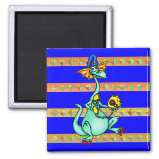 Dragon Phone Calls 2 Inch Square Magnet