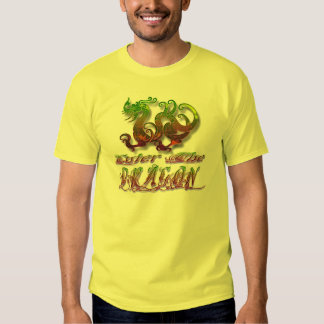 Dragon picture with enter the dragon text below tee shirt