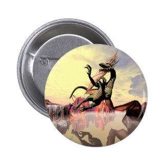 Dragón Pin Redondo De 2 Pulgadas