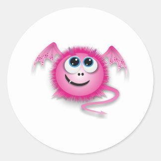 Dragon pinky classic round sticker