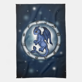 Dragon Pisces Zodiac Hand Towels