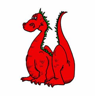Dragon.png rojo y verde esculturas fotográficas