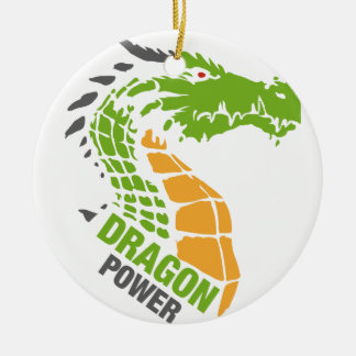 Dragon Power - Pride / Strength / Leadership Ceramic Ornament