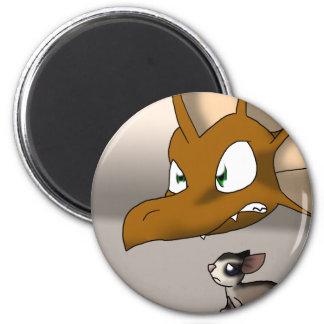 Dragon Protecting Sugar Glider 2 Inch Round Magnet