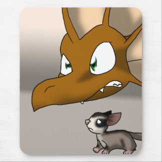 Dragon Protecting Sugar Glider Mouse Pad