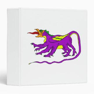 Dragon Purple 3 Ring Binder